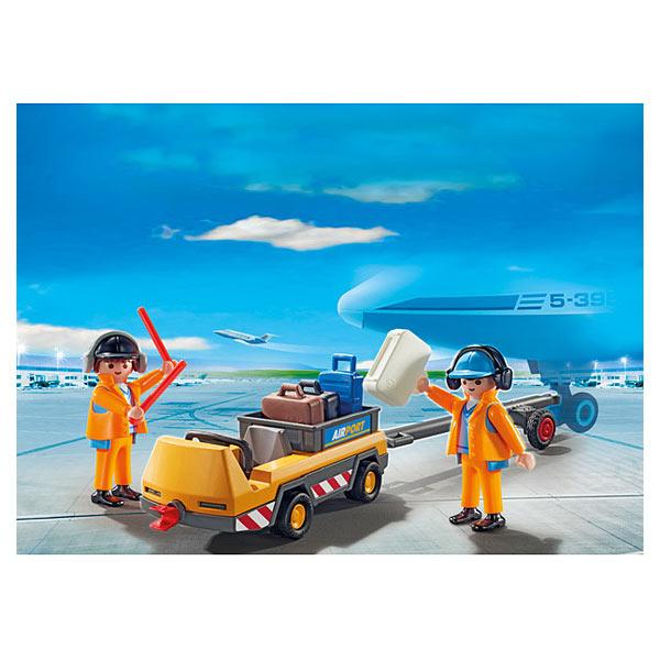 5396 agents avec tracteur bagages playmobil pompiers - Tracteur tom avion ...