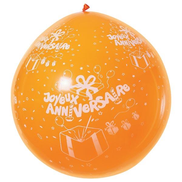Ballon anniversaire d100cm pour 8€