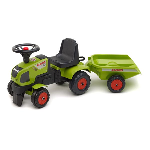 tracteur baby claas avec remorque falk king jouet porteurs jouets bascules falk jeux d. Black Bedroom Furniture Sets. Home Design Ideas