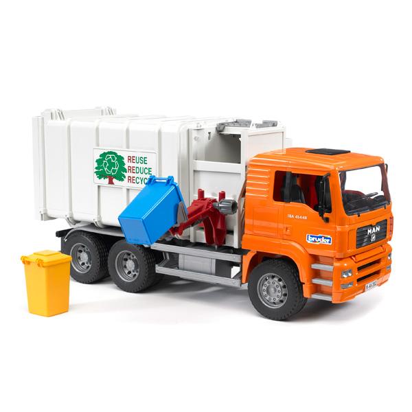 camion poubelle man bruder king jouet v hicules de. Black Bedroom Furniture Sets. Home Design Ideas