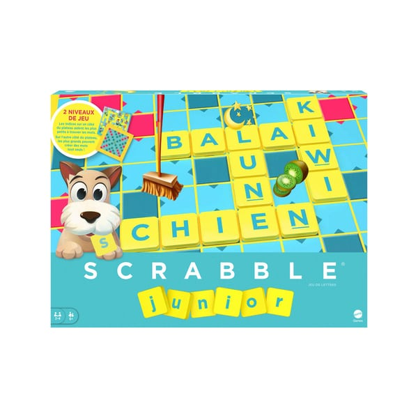 scrabble junior mattel jeux king jouet jeux de. Black Bedroom Furniture Sets. Home Design Ideas