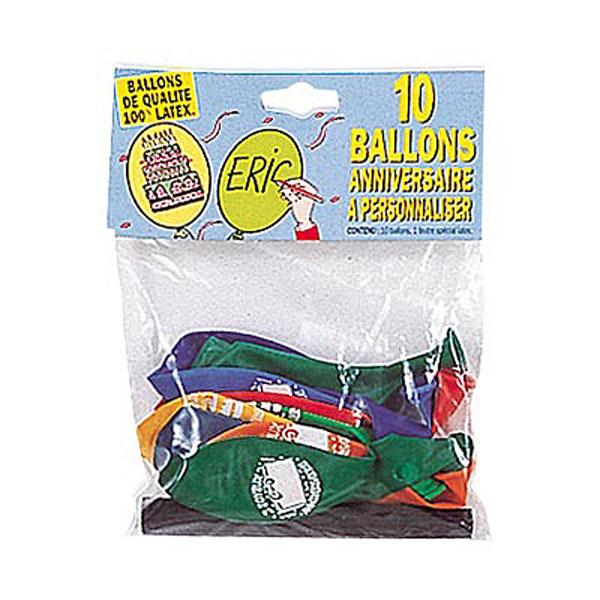 10 ballons anniversaire + feutre pour 4€