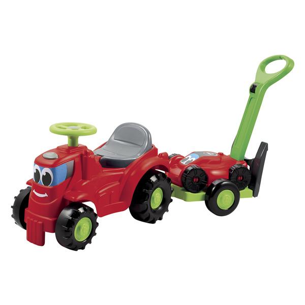 tracteur porteur remorque tondeuse ecoiffier king jouet porteurs jouets bascules. Black Bedroom Furniture Sets. Home Design Ideas