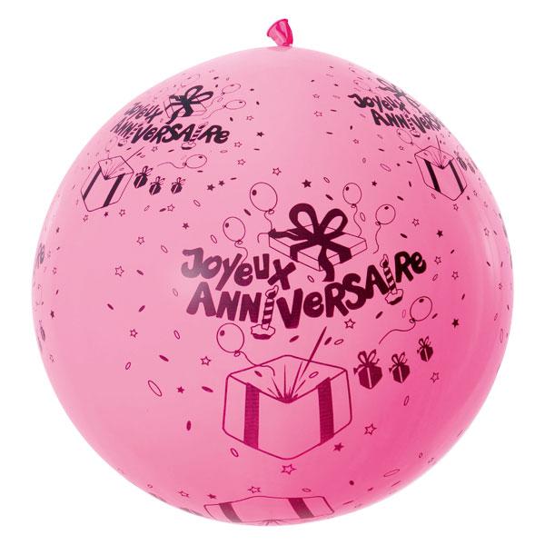 5 ballons anniversaire d50cm pour 5€