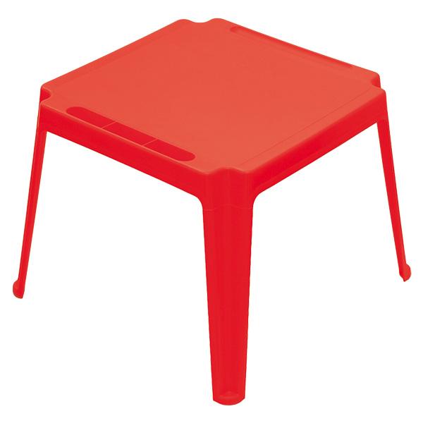Table carr e enfant rouge sun sport king jouet for Table enfant rouge