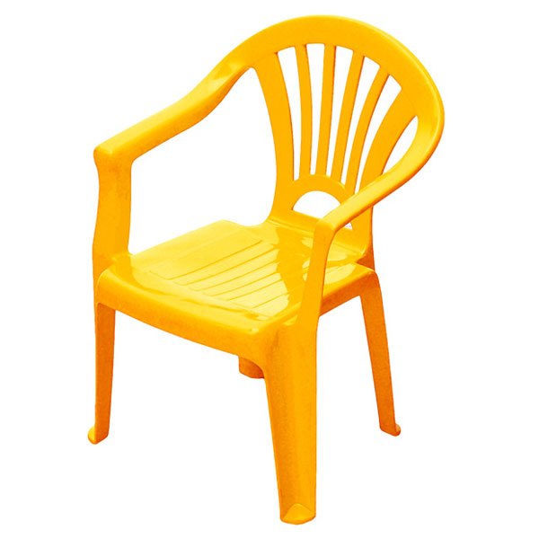 Chaise enfant jaune sun sport king jouet maisons - Table de jardin plastique vert saint paul ...