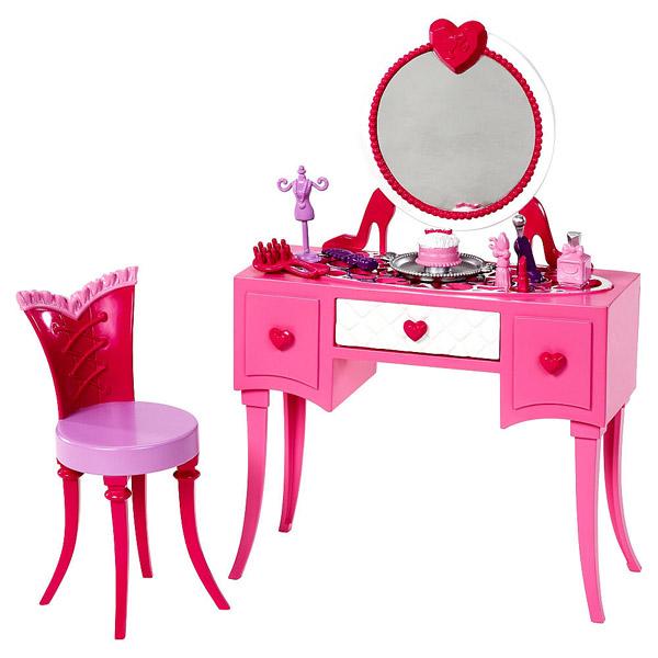 E Toys For Girls : Barbie mobilier basique coiffeuse mattel king jouet
