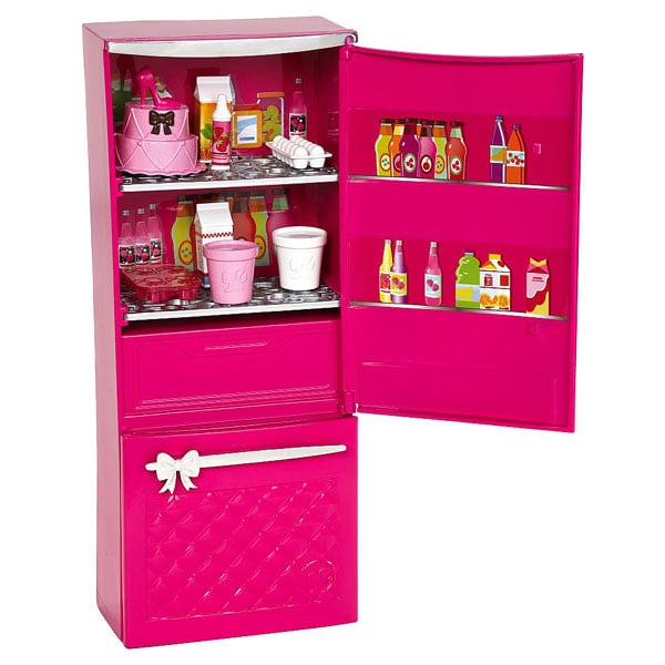 barbie mobilier basique nouveau r frig rateur mattel king jouet accessoires de poup es mattel. Black Bedroom Furniture Sets. Home Design Ideas
