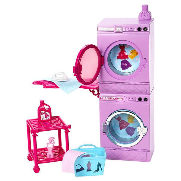 Barbie mobilier basique machine laver mattel king for Accessoire maison barbie