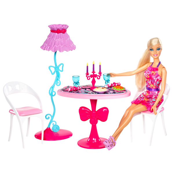 Poup233e Barbie et Mobilier Salle 224 Manger Mattel King  : GU6003746 from www.king-jouet.com size 600 x 600 jpeg 77kB