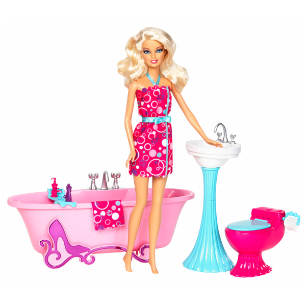 poup e barbie et mobilier salle de bain mattel king jouet poup es mannequin mattel poup es. Black Bedroom Furniture Sets. Home Design Ideas