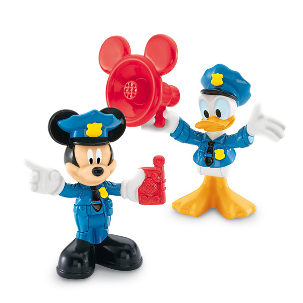 figurine mickey et donald policier fisher price friends king jouet figurines et cartes. Black Bedroom Furniture Sets. Home Design Ideas