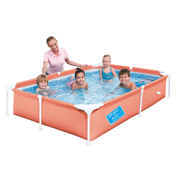 Ma 1 re piscine tubulaire orange logitoys king jouet for Petite piscine gonflable pour bebe