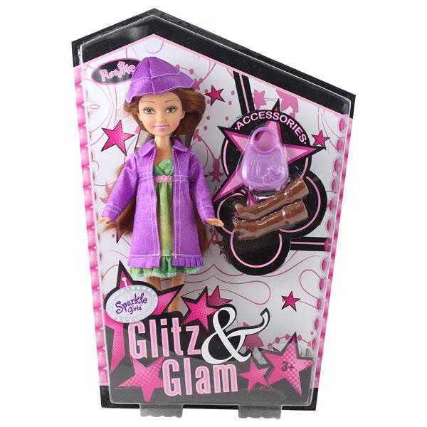 Poupée Glitz&Glam Chatain et Accessoires
