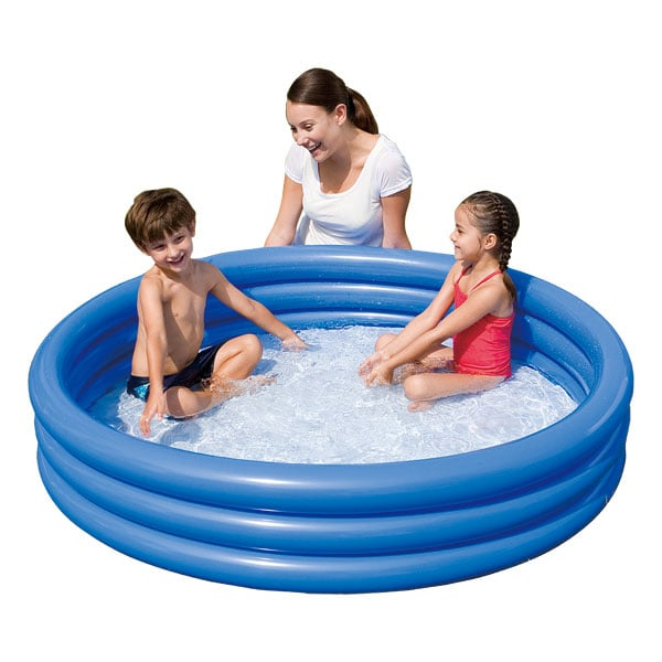 Piscine 3 boudins bleu logitoys king jouet piscines for Piscine gonflable rectangulaire pas cher