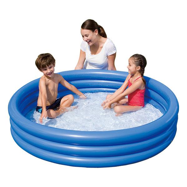 piscine 3 boudins bleu logitoys king jouet piscines