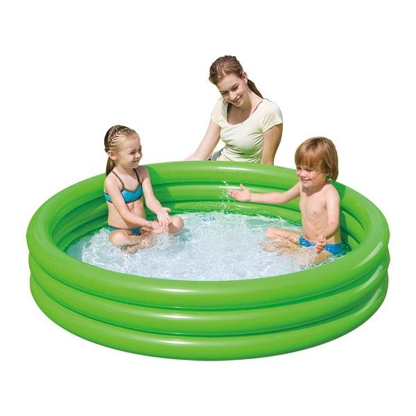 Piscine 3 boudins vert logitoys king jouet piscines for Piscine gonflable 2 boudins