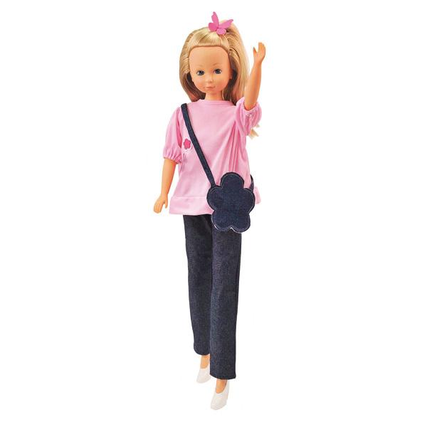 Poupée Valérie 90 cm rose et jean
