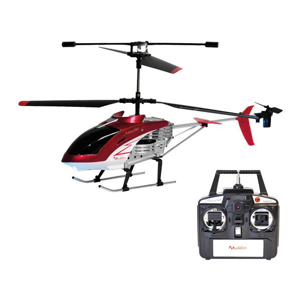 Hélicoptère Rouge 40cm R/C 3 voies
