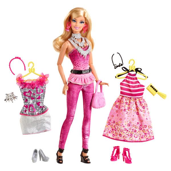 barbie fashionistas robes et accessoires rose de mattel. Black Bedroom Furniture Sets. Home Design Ideas