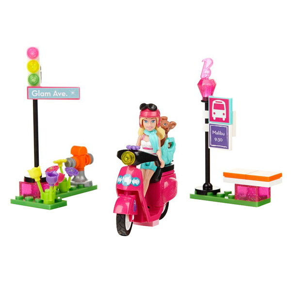 barbie scooter mega bloks king jouet lego briques et blocs mega bloks jeux de construction. Black Bedroom Furniture Sets. Home Design Ideas