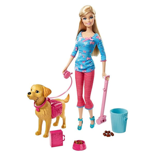 Toddler Girl Toys 2014 : Barbie animaux rigolos et son chien taffy mattel