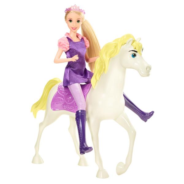 Princesse disney raiponce et son cheval magique mattel king jouet poup es mannequin mattel - Cheval raiponse ...