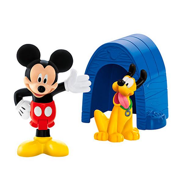 Figurine Mickey et Pluto avec Niche