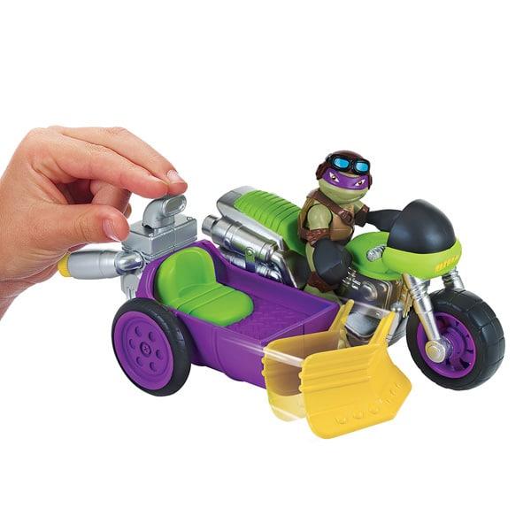 Tortue ninja v hicule et figurine 6 cm donatello sidecar - Vehicule tortue ninja ...