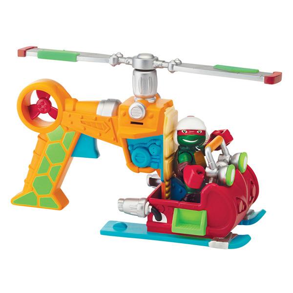 Tortue Ninja Véhicule et Figurine 6 cm Raphael & DropCopter