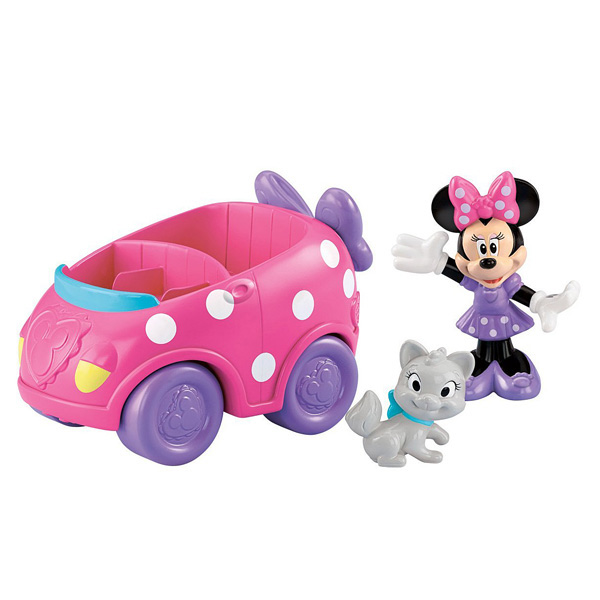 Minnie avec son chat et sa voiture fisher price friends - Voiture minnie ...