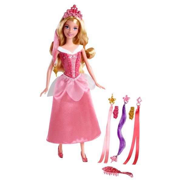 Retrouvez votre princesse Ariel avec des mèches de différentes couleurs peuvent se clipper à leurs cheveux pour un résultat époustouflant. Une brosse assortie à son diadème et des barrettes à cheveux colorées sont incluses. Référence principale : 221200