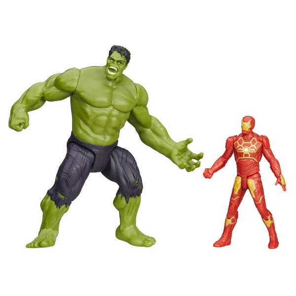 Avengers Figurine Deluxe 5 cm Hulk & Iron Man