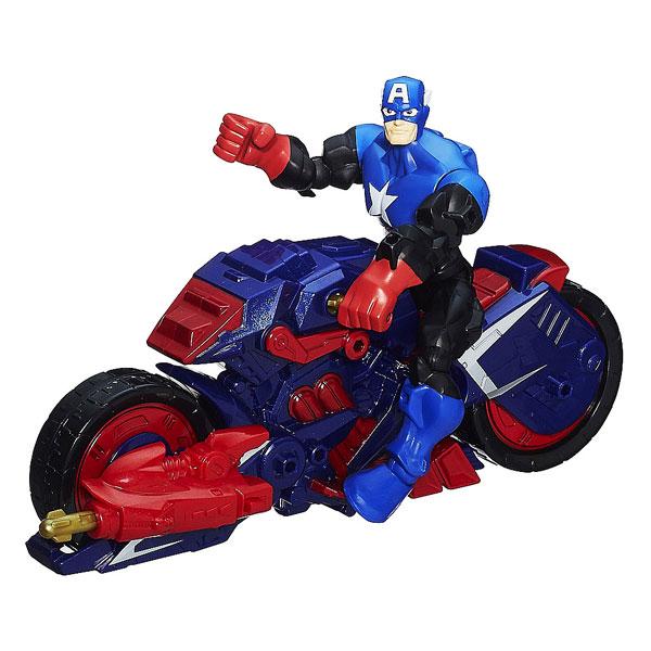 Avengers figurine et son v hicule captain america hasbro - Jeux de captain america gratuit ...