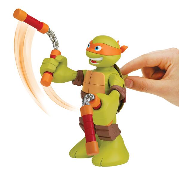 Figurine Tortue Ninja Michelangelo articulée 15 cm avec sons