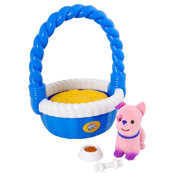 Little Live Pets-Chiot Belle avec panier de transport de Kanai Kids