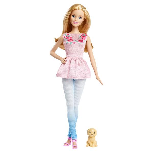 Barbie et son petit chien mattel king jouet poup es mannequin mattel poup es peluches - Barbie et son chien ...