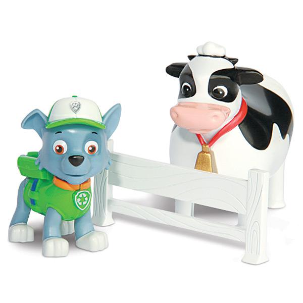figurine pat 39 patrouille rocky avec bettina la vache spin master king jouet figurines spin. Black Bedroom Furniture Sets. Home Design Ideas