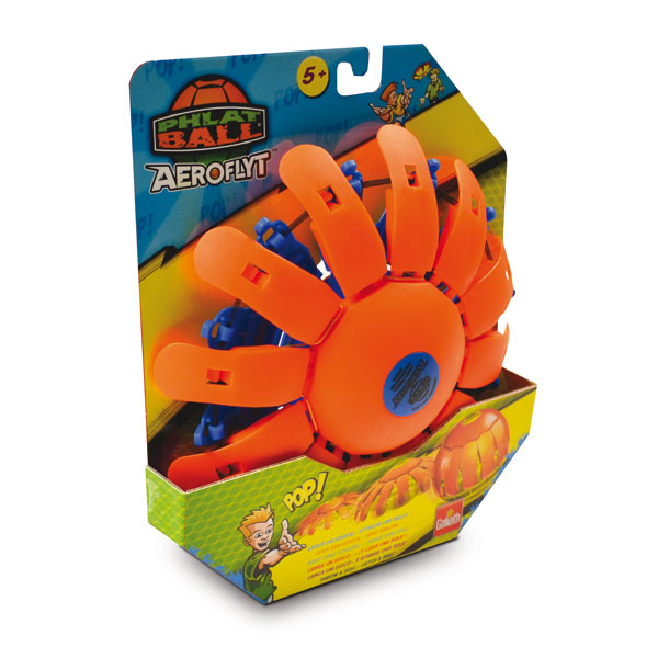 Phlat Ball Aeroflyt Révolution – orange et bleu de Goliath
