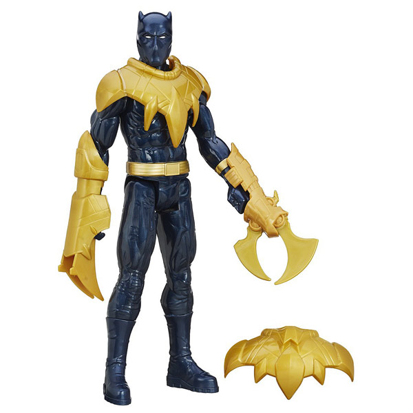 avengers figurine 30 cm et accessoires lumineux black panther hasbro king jouet figurines et. Black Bedroom Furniture Sets. Home Design Ideas
