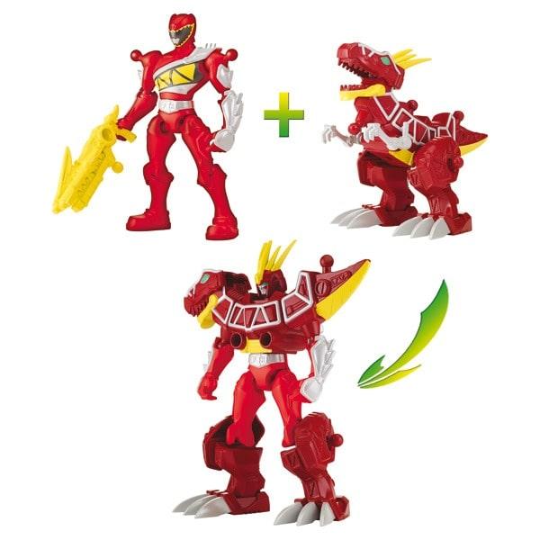 Figurine Power Rangers Mixx N Morph : Ranger Zord T Rex Noir Dino Charge  Jeux