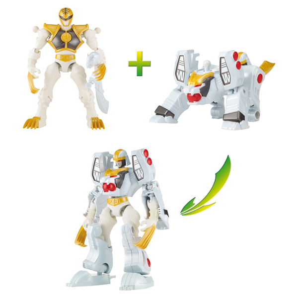 Pack duo Mixx n Morph Power Ranger blanc et Tigerzord