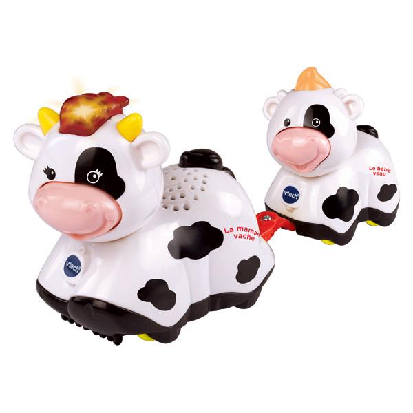 Duo animaux bébé avec maman vache - Tut Tut Animo