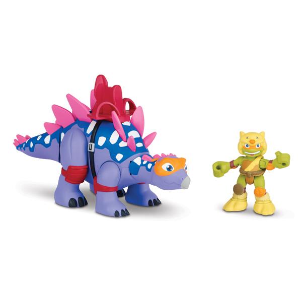 Tortue ninja 6cm stegosaurus avec mikey giochi king jouet figurines et cartes - Tortue ninja orange ...