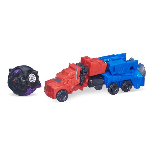 transformers minicon battle optimus prime vs bludgeon de hasbro. Black Bedroom Furniture Sets. Home Design Ideas