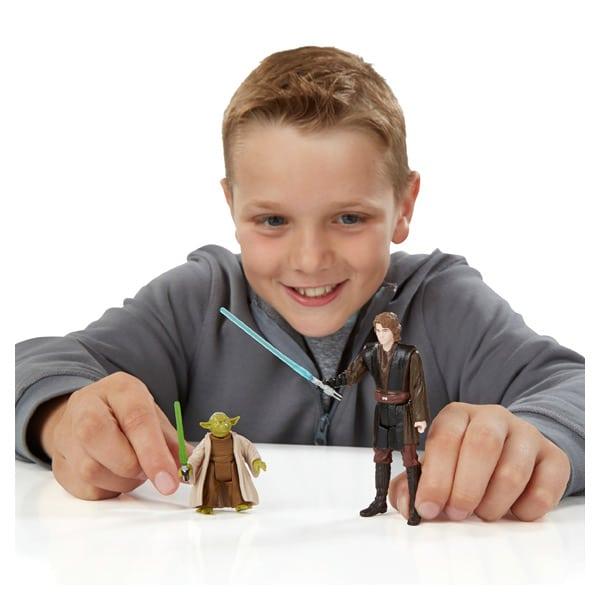 Star Wars pack 2 figurines 10cm Anakin Skywalker et Yoda