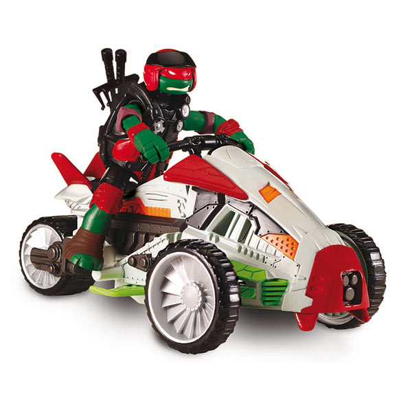 TMNT Deluxe véhicule avec Figurine 12cm Raph