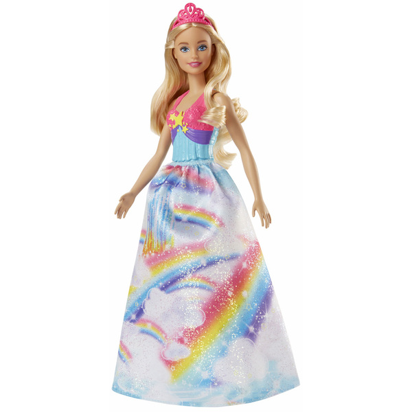 Barbie princesse multicolore arc en ciel mattel king - Barbie en princesse ...