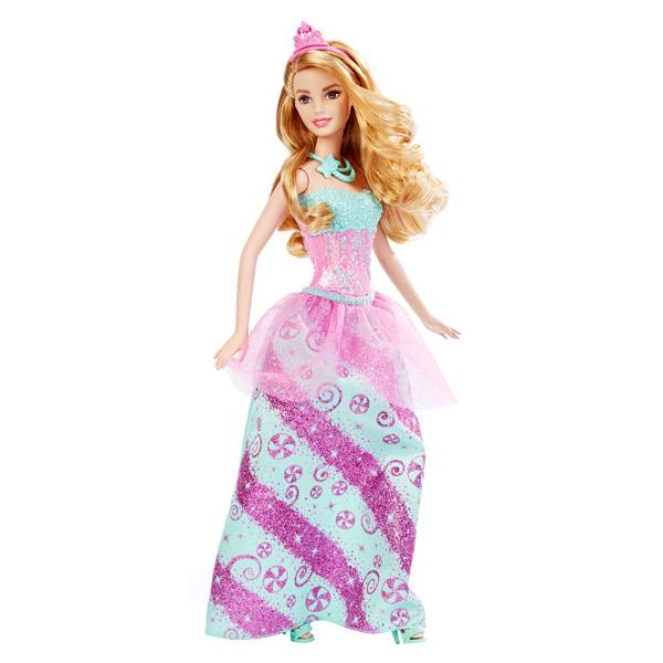 le royaume fantastique a dépêché une ravissante princesse aux longs cheveux châtains et coiffée dun diadème. Elle porte les couleurs du royaume des bonbons. Sa robe chamarrée se compose dun bustier moulé et incrusté de pierreries, dun très long jupon de s