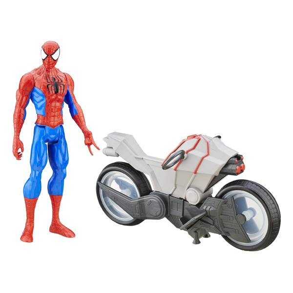 Spiderman figurine 30 cm et son v hicule spider man hasbro king jouet figurines et cartes - Jeux de spiderman 3 gratuit ...